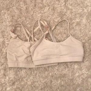 2 lululemon white sports bras